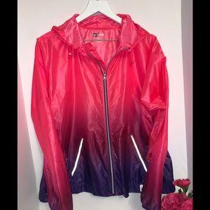 FILA pink-n-purple ombré windbreaker jacket